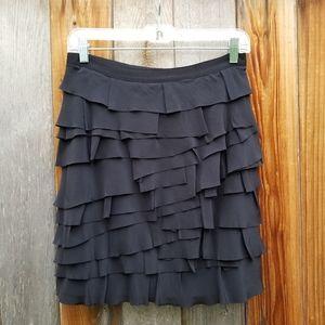 Club Monaco Tiered Silk Mini Skirt